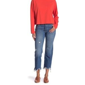 NWT Free People Maggie Ripped Crop Straight Leg 26